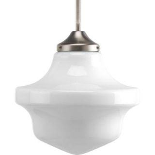 Progress Lighting Schoolhouse Collection 1 Light Brushed Nickel Pendant P5195 09