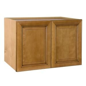 Home Decorators Collection Assembled 36x18x24 in. Wall Double Door Cabinet in Lewiston Toffee Glaze W362418 LTG