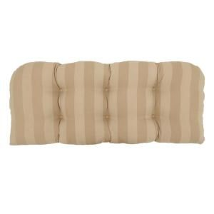 Hampton Bay Roux Stripe Tufted Outdoor Bench Cushion 7426 01001600