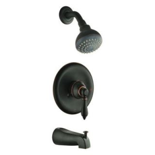 Design House Hathaway 1 Handle Tub and Shower Faucet in Oil Rubbed Bronze 523498