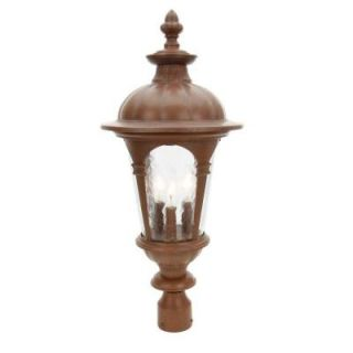 Hampton Bay Renaissance Rustic Bronze 11 In. 3 Light Post Lantern DISCONTINUED HB9316P 98