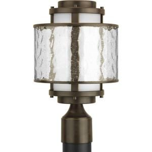 Progress Lighting Bay Court Collection Antique Bronze 1 Light Post Lantern P5499 20