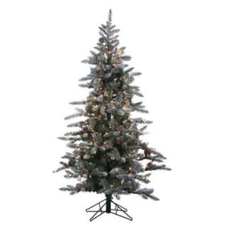 STERLING 6 ft. Pre Lit Lightly Flocked Artificial McKinley Pine Christmas Tree 5832 60C