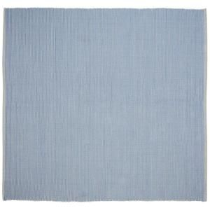 Home Decorators Collection Ribbed Cotton Blue 8 ft. Square Area Rug DISCONTINUED 0467150310