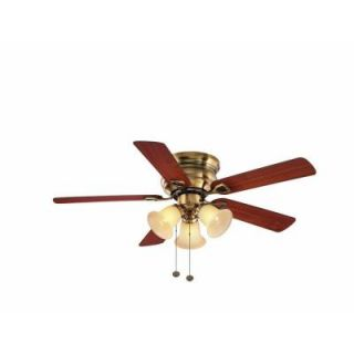 Hampton Bay Clarkston 44 in. Antique Brass Ceiling Fan CF544H PEH