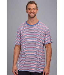 Tommy Bahama Big Tall Cotton Modal Knit Stripe S/S Tee Mens T Shirt (Purple)