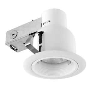 Globe Electric 4 in. Open Indoor/Outdoor White Recessed Lighting Kit 90670