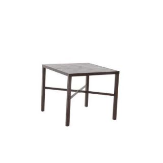 Hampton Bay Millstone 40 in. Square Patio High Dining Table FTA70036G