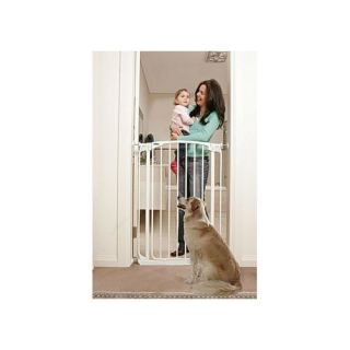 Bindaboo White Extra Tall Swing Closed Pet Gate Dogs