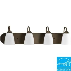 Progress Lighting Gather Collection Antique Bronze 4 Light Fluorescent Vanity Fixture P2709 20EBWB