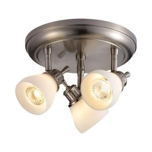 Hampton Bay 3 Light Satin Nickel Directional Ceiling Track Lighting Fixture RB169 C3