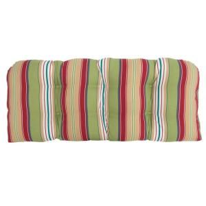 Hampton Bay Lancaster Stripe Tufted Outdoor Bench Cushion 7426 01001200
