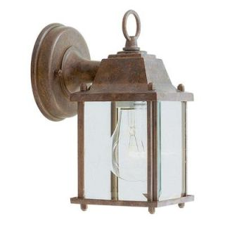 Livex Lighting Providence Wall Mount 1 Light Outdoor White and Weathered Brick Incandescent Lantern CLI MEN7506 18