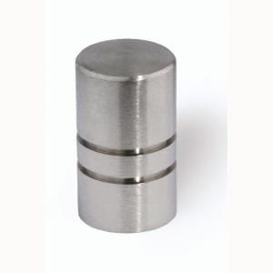 Siro Designs 1/2 in. Fine Brushed Stainless Steel Cabinet Knob HD 44 338
