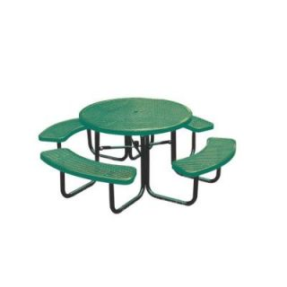 Ultra Play 46 in. Diamond Green Commercial Park Round Portable Table PBK358 RDVG