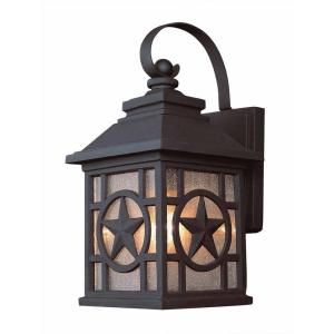 Laredo Texas Star Wall Mount 1 Light Outdoor Black Lantern (2 Pack) 1000 022 222