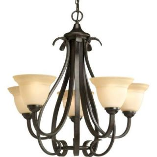 Progress Lighting Torino Collection 5 Light Forged Bronze Chandelier P4416 77