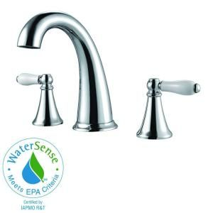 Pfister Kaylon 8 in. Widespread 2 Ceramic Handle High Arc Bathroom Faucet in Polished Chrome F 049 KYCC