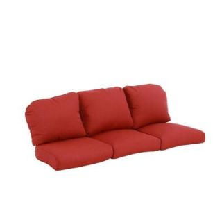 Hampton Bay Walnut Creek Red Replacement Outdoor Sofa Cushions FRS62265T CR
