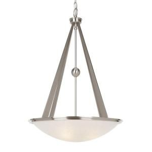 Hampton Bay Architect Collection 3 Light Brushed Nickel Foyer Pendant HB471537DI