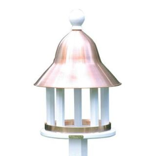 Good Directions Lazy Hill Farm Designs Bell Bird Feeder with Blue Verde Copper Roof 43513