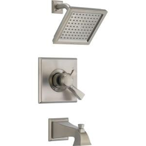 Delta Dryden Single Handle 1 Spray Tub and Shower Faucet Trim Kit in Stainless (Valve Not Included) T17451 SS