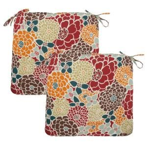 Hampton Bay Lois Floral Outdoor Chair Cushion (2 Pack) DISCONTINUED 7348 02000300