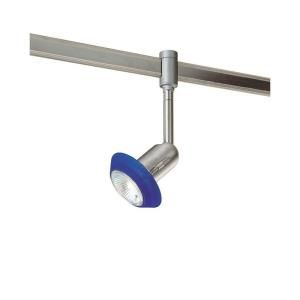 Hampton Bay Flex Track Fixture with Blue Glass Ring DISCONTINUED EC7170BAB