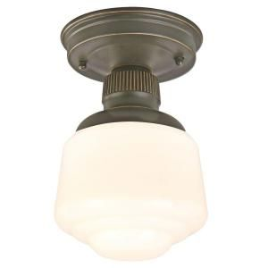 Hampton Bay Esdale 1 Light Ceiling Oil Rubbed Bronze Flushmount HJD8011A 2
