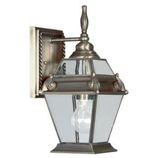 Livex Lighting Providence Wall Mount 1 Light Outdoor Vintage Pewter Incandescent Lantern CLI MEN2627 29