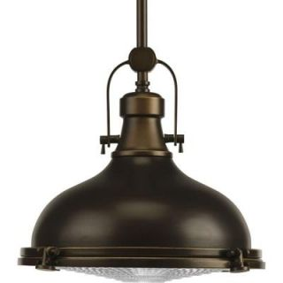 Progress Lighting Fresnel Collection 1 Light Oil Rubbed Bronze Pendant P5188 108