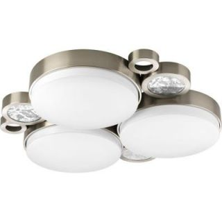 Progress Lighting Bingo Collection Brushed Nickel 3 light Flushmount P3958 09