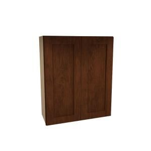 Home Decorators Collection Assembled 33x30x12 in. Wall Double Door Cabinet in Franklin Manganite Glaze W3330 FMG