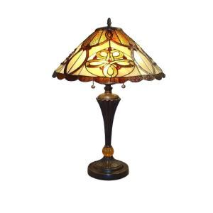 Serena Ditalia 25 in. Tiffany Desert Sun Bronze Table Lamp TF7023TL