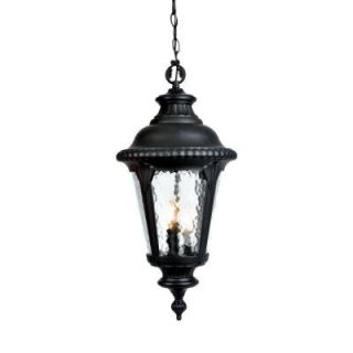 Acclaim Lighting Surrey Collection Hanging Outdoor 3 Light Matte Black Light Fixture 7226BK