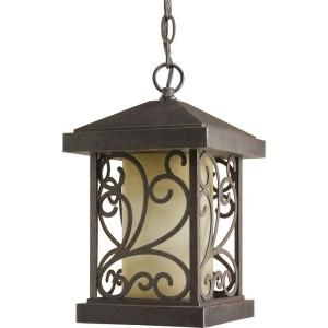 Progress Lighting Cypress Collection 1 Light Forged Bronze Hanging Lantern P5534 77