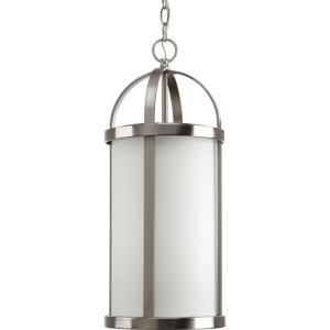 Progress Lighting Greetings Collection 1 Light Brushed Nickel Hanging Lantern P5549 09