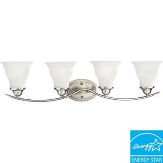 Progress Lighting Trinity Collection 4 Light Brushed Nickel Fluorescent Bath Light P3193 09EBWB
