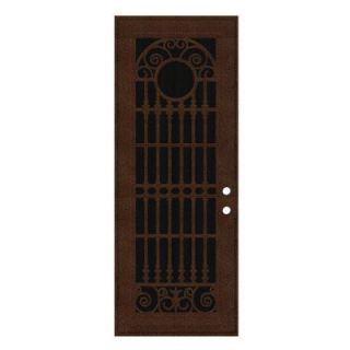 Unique Home Designs Spaniard 36 in. x 96 in. Copperclad Left Hand Surface Mount Aluminum Security Door with Insect Screen 1S2029EM2CCISA