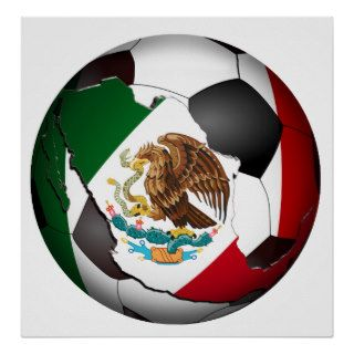 Mexico Soccer Ball Print