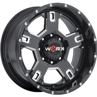 Worx Havoc 20 Black Wheel / Rim 8x170 with a 18mm Offset and a 125.2 Hub Bore. Partnumber 802 2987BM+18 Automotive