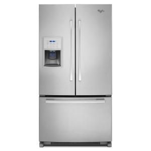 Whirlpool Gold 19.8 cu. ft. French Door Refrigerator in Monochromatic Stainless Steel, Counter Depth GI0FSAXVY