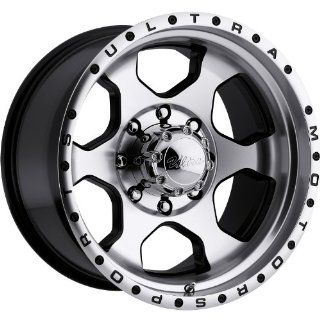 Ultra Rogue 16 Machined Black Wheel / Rim 8x6.5 with a  6mm Offset and a 130 Hub Bore. Partnumber 175 6881U Automotive