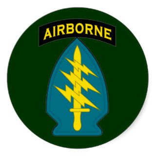 Special Forces   Airborne   shoulder patch Round Sticker