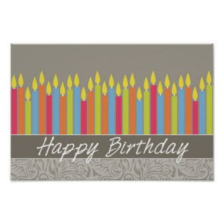 Happy Birthday Candles Poster