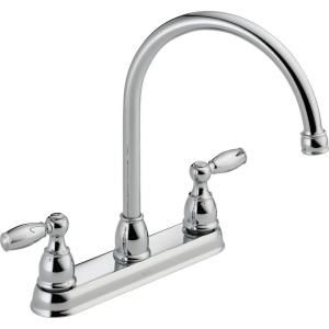 Delta Foundations 2 Handle Kitchen Faucet in Chrome 21987LF