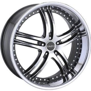 Bazo B502 22 Machined Black Wheel / Rim 5x115 with a 18mm Offset and a 73.00 Hub Bore. Partnumber B502 2295511518BS Automotive