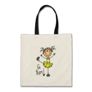 Yellow Cheerleader Tshirts and Gifts Canvas Bags
