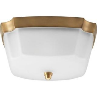 Progress Lighting Addison Collection Brushed Bronze 2 Light Flushmount P3870 109