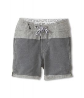 Volcom Kids Heather Stripe Boardshort Boys Swimwear (Gray)